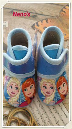 Zapatillas Disney Frozen celeste