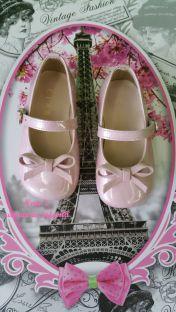 Merceditas Clarys metalizada rosa