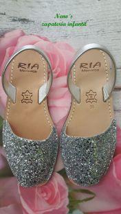 Menorquinas Ria glitter sin correa