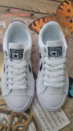Converse star player cordones blanco