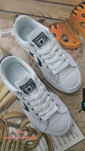Converse star player cordones blanco