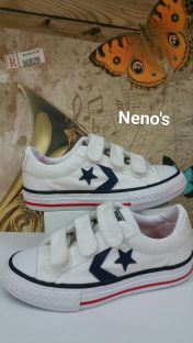 Converse star player velcro blanco
