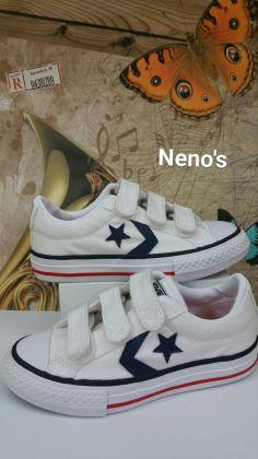Converse star player velcro blanco