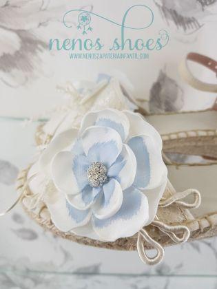 Alpargatas Zoysan flor azul
