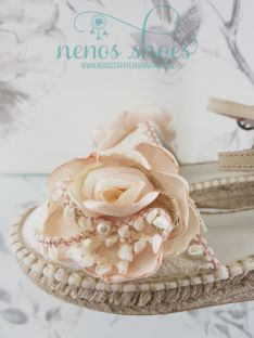 Alpargatas Zoysan flor rosa
