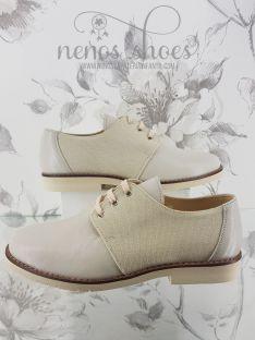 Zapatos Maria Catalán beige