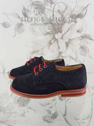 Zapato Landos cordones rojo