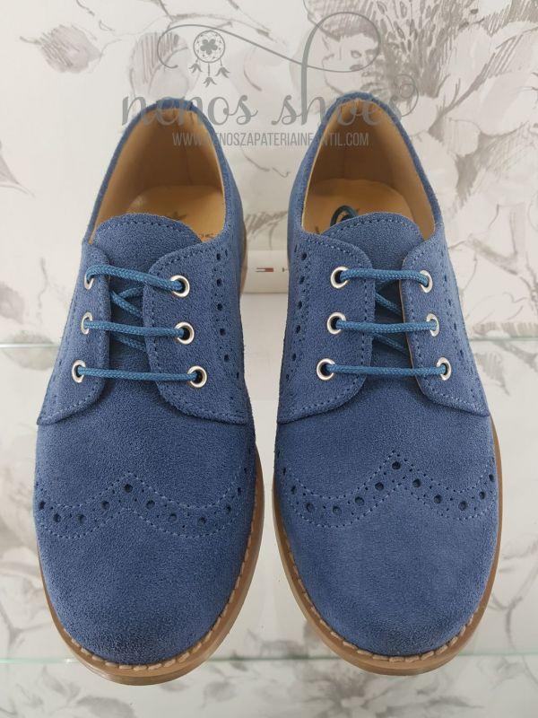 mejor coleccion forma elegante diseño unico Zapatos oxford para niños en ante de landos en zapateria ...