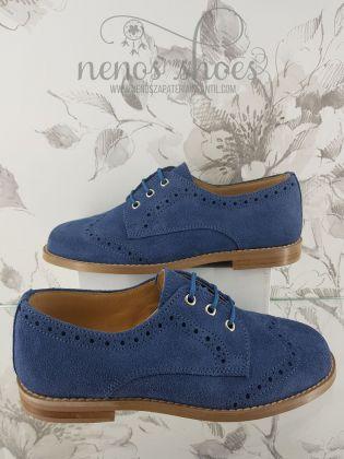 Zapato Landos ante azul