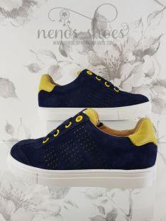Sneaker Acebos serraje