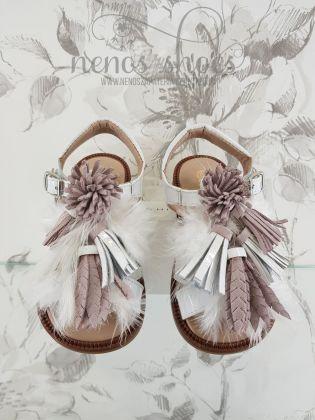Sandalias Cucada plumas