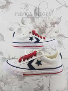 Converse star player cordones rojo