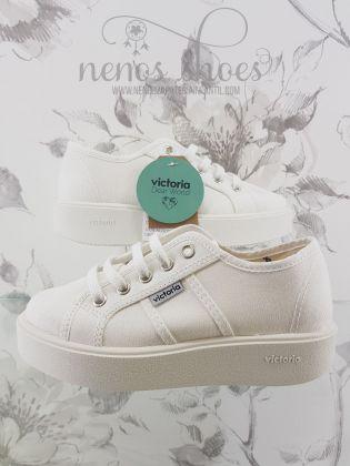 Zapatillas Victoria plataforma blanco