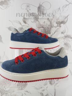 Sneakers Primigi cordones rojo